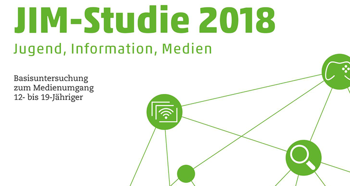 Illustration verte sur fond blanc de l'étude JIM 2018