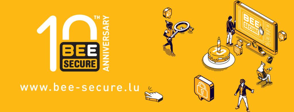 Affiche pour les 10 ans de BEE SECURE
