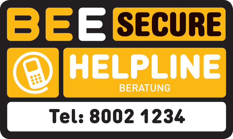 BEE SECURE Helpline Beratung Tel: 8002 1234