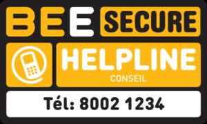 BEE SECURE Helpline Conseil Tél: 8002 1234